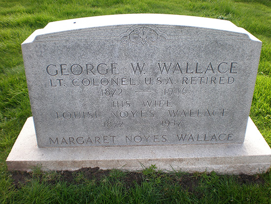 George Weed Wallace headstone - San Francisco National Cemetery.